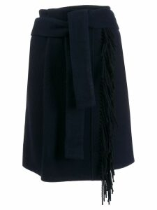 Smarteez wrap fringe skirt - Blue