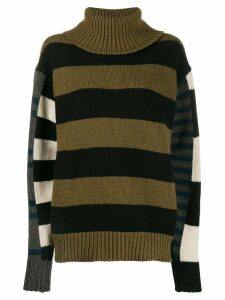 colville asymmetric panelled jumper - Green