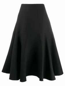 Valentino A-line paneled skirt - Black