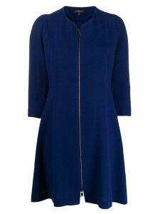 Antonelli zip-up flared dress - Blue