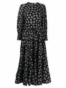 Rixo Pip panelled midi dress - Black