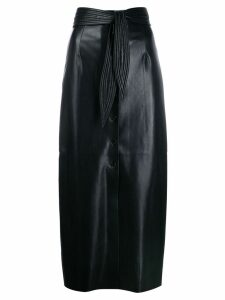 Nanushka Arfen vegan leather belted skirt - Black