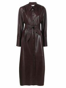 Nanushka Rosana vegan leather maxi dress - Brown