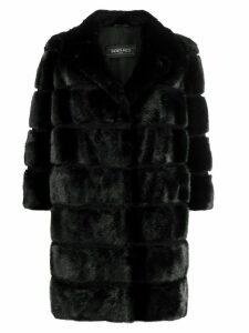Simonetta Ravizza convertible 3/4 sleeves coat - Black