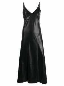 Nanushka Anira vegan leather slip dress - Black