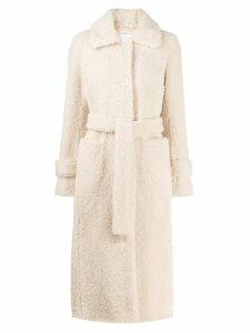 Stand Lottie faux-shearling coat - Neutrals