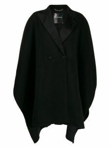 Ermanno Scervino double-breasted cape coat - Black