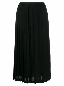 Junya Watanabe pleated midi skirt - Black
