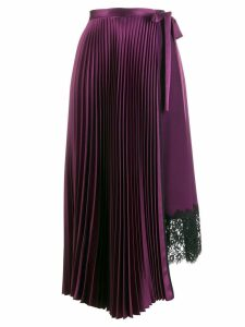 Smarteez high waisted pleated skirt - Purple
