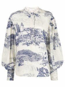 Chloé printed blouse - White