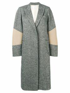 Victoria Beckham sleeve patch oversized coat - Black