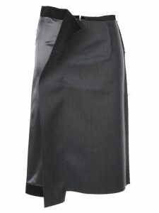 Maison Margiela unfinished pencil skirt - Grey