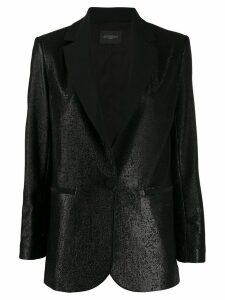 Antonelli metallic shimmer blazer - Black