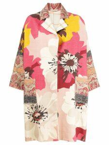 Ermanno Gallamini patchwork open front coat - Pink
