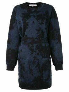 Proenza Schouler PSWL Ink Blotch Sweatshirt Dress - Blue