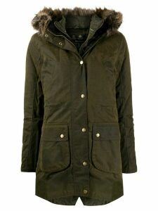 Barbour wax parka coat - Green