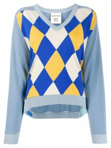 Semicouture Argyle intarsia sweater - Blue