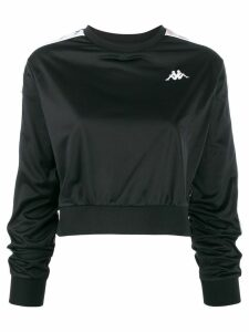 Kappa Omini logo band cropped sweatshirt - Black