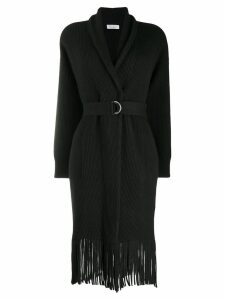Brunello Cucinelli fringed cardi-coat - Black
