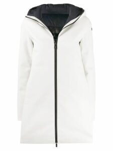 Rrd boxy fit hooded coat - White
