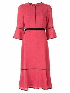 Cefinn lined detail textured dress - PINK