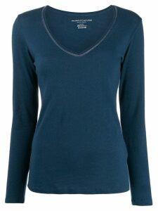 Majestic Filatures V-neck long-sleeved top - Blue