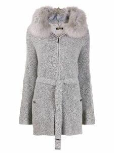 Max & Moi Renard knitted coat - Grey