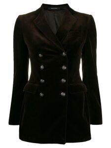 Tagliatore Americana velvet blazer - Brown