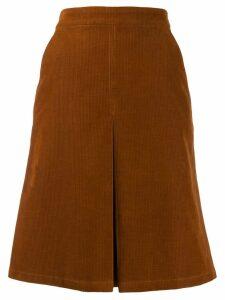 A.P.C. Coco A-line skirt - Brown