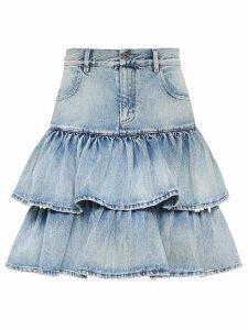 Miu Miu Iconic ruffled skirt - Blue