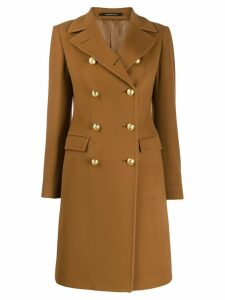 Tagliatore Abric double-breasted coat - Brown