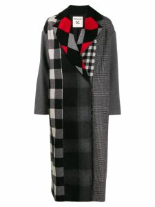 Semicouture multi-check coat - Grey