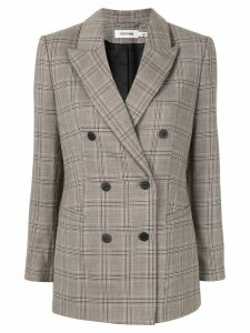 Cefinn check double breasted blazer - Grey