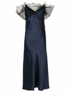 Christopher Esber lace embellished textured dress - Blue