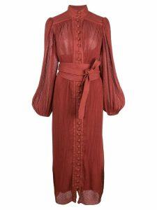 Zimmermann Espionage midi dress - Red