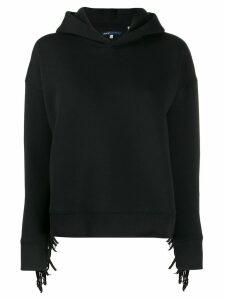 Levi's: Made & Crafted fringe detail hoodie - Black