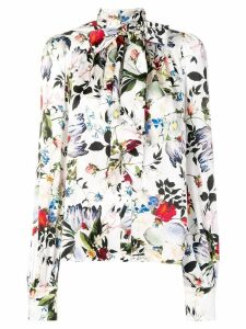 Erdem floral bow shirt - White
