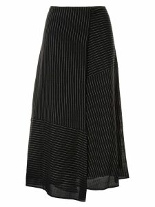 Cefinn asymmetric panel striped skirt - Blue