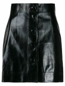 George Keburia short varnished skirt - Black