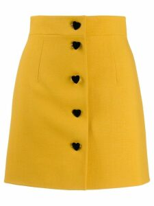George Keburia button-up skirt - Yellow
