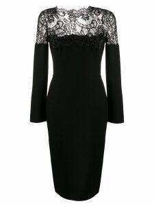 Ermanno Scervino lace panel dress - Black