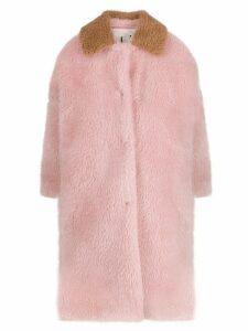 L'Autre Chose faux fur coat - Pink