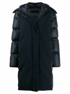 RRD feather down hooded coat - Blue