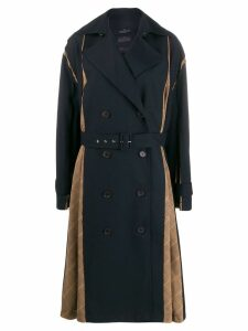 Rokh Panel Trech double breasted coat - Blue