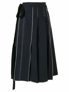 Sara Lanzi pleated Pareo skirt - Blue