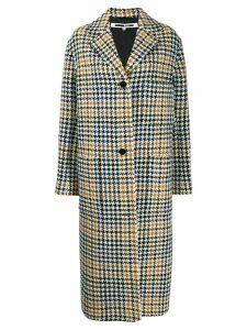 McQ Alexander McQueen houndstooth single-breasted coat - White
