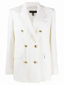 Escada double breasted blazer - White