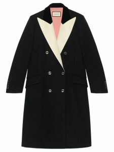 Gucci double-breasted tuxedo coat - Black
