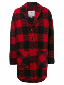 Woolrich buffalo print button-up coat - Red