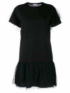Red Valentino Love You tulle overlay dress - Black
